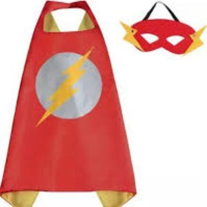 Other - NWT The Flash Boys Cape/Mask Costume 3-8 Year